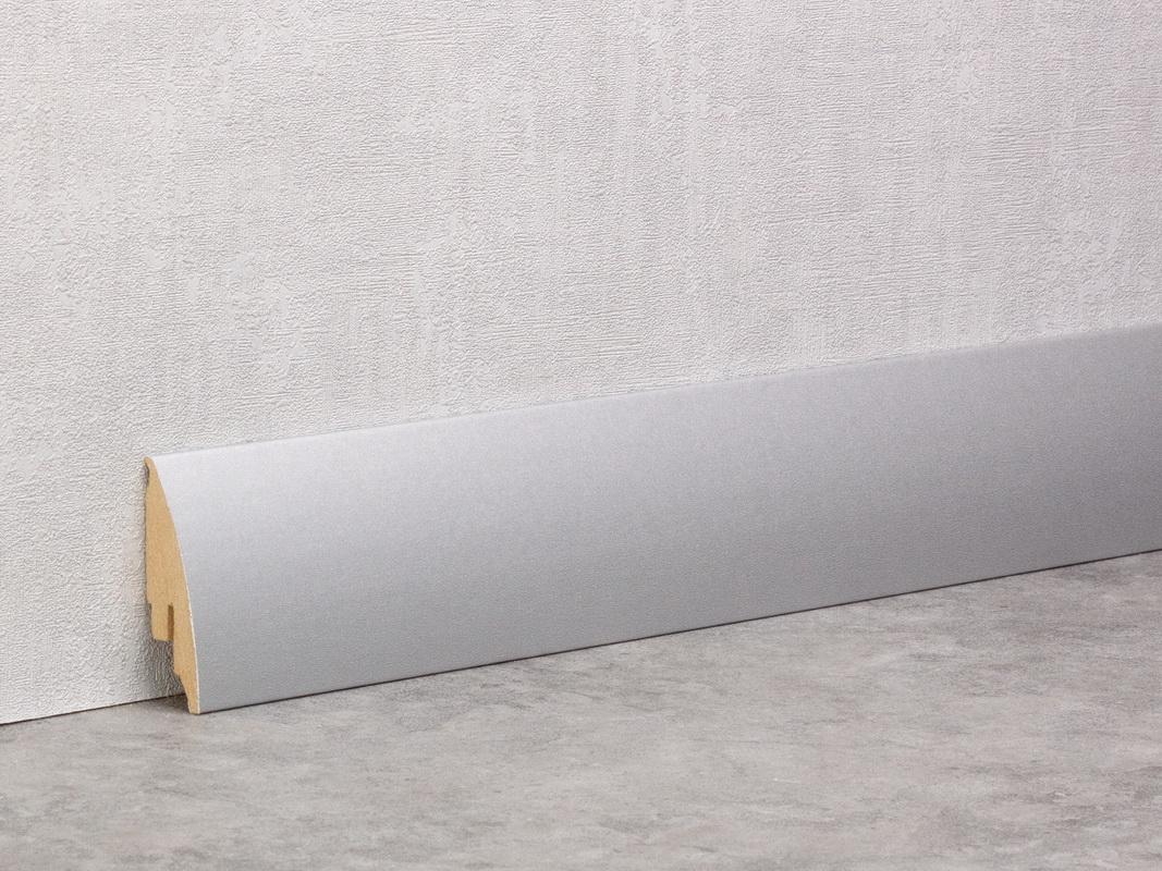 Silber Matt Sockelleiste 60mm Softline
